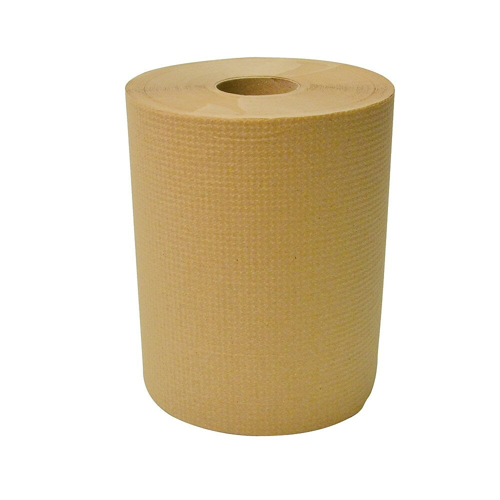 """Image of Dura Plus Brown Diamond Hand Paper Roll 8"""" x 425', 12 Pack"""
