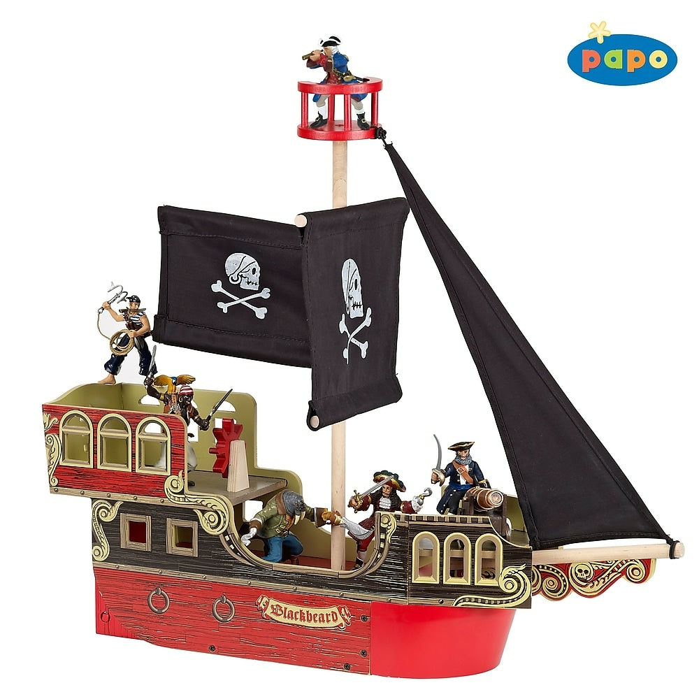 Image of Papo Wooden Pirate Ship