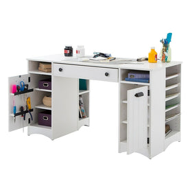 South Shore Artwork Craft Table With Storage 53 5 L X 23 75 D X Staples Ca
