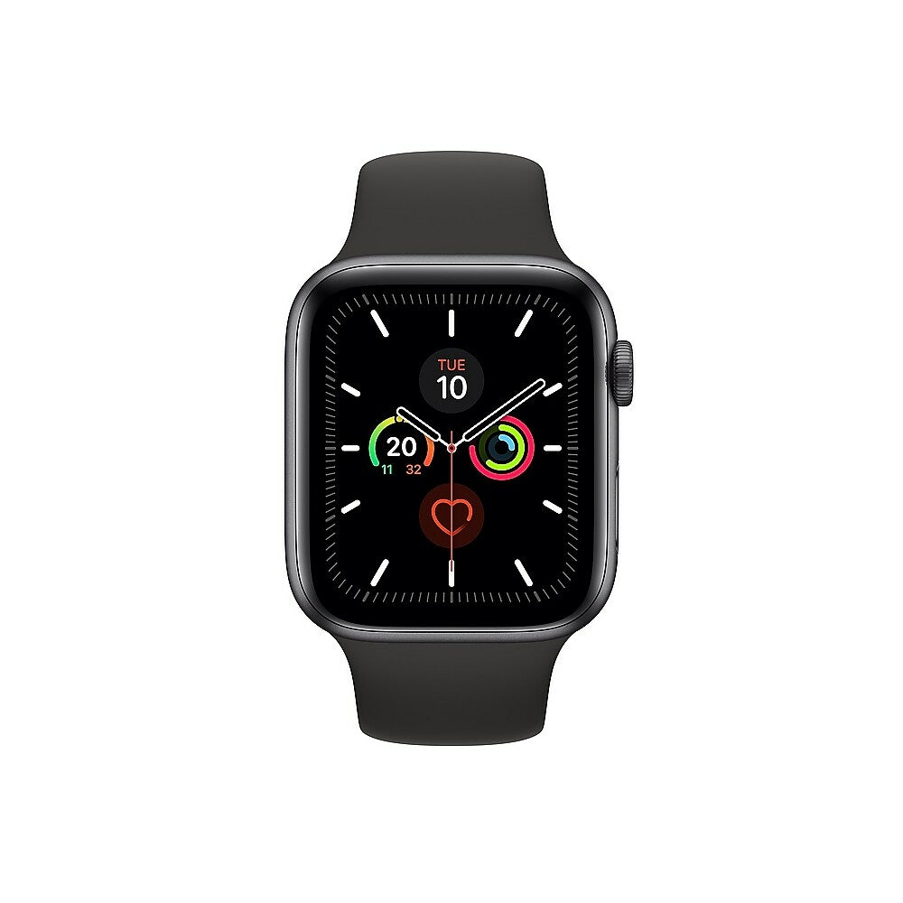 Apple Watch Series 5 44mm Gps Space Grey Aluminium Case With Sport Www Staples Ca