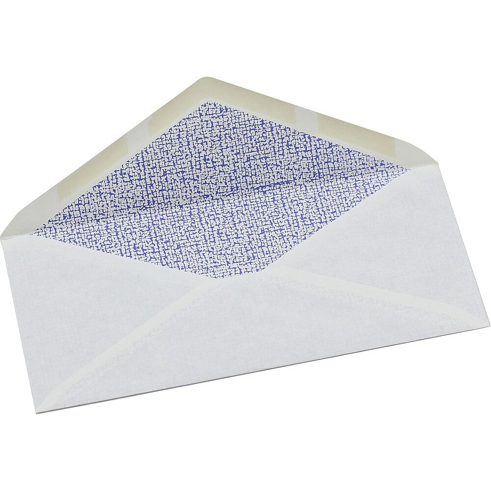 """Image of Simply #10 White Security Envelopes, 4-1/8"""" x 9-1/2"""", Gummed, 40 Pack"""