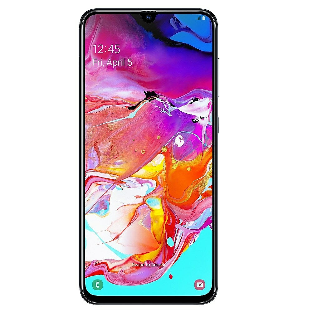 Image of Samsung Galaxy A70 6.7 Inch Unlocked Smart Phone, 128 GB (Android Pie), Black