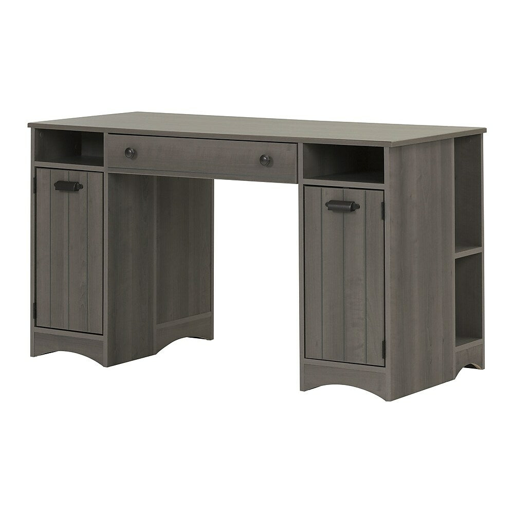 South Shore Artwork Craft Table With Storage Grey Maple 10545 Staples Ca
