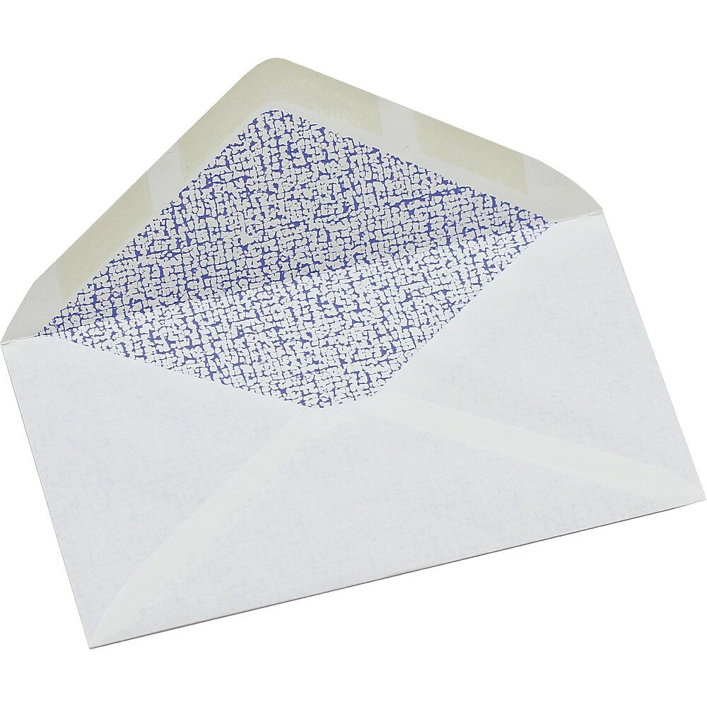 """Image of Simply #8 Tinted White Security Envelope, 3 - 5/8"""" x 6 - 1/2"""", Gummed, 50 Pack"""