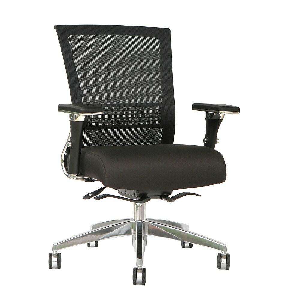 Image of TygerClaw Mesh Mid Back, Fabric Seat Chair (TYFC2323)
