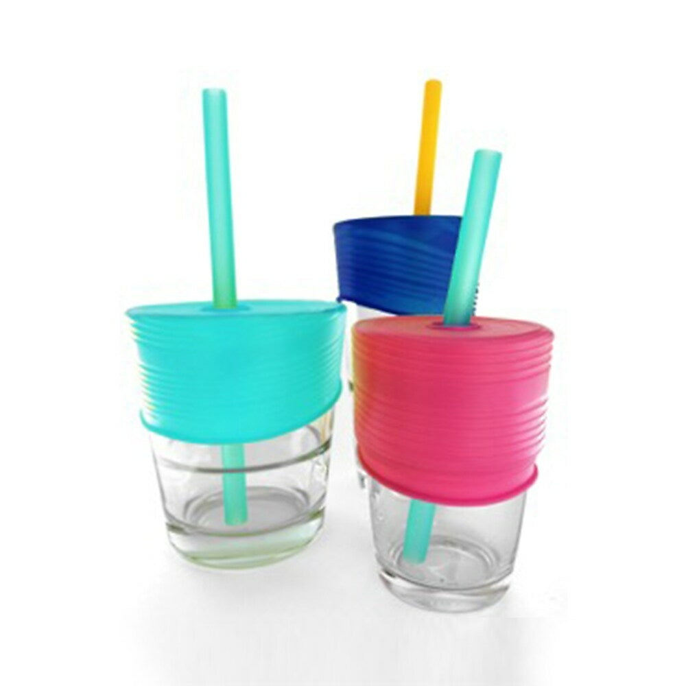 Image of Silikids Universal Straw Top, Sea/Berry/Cobalt, 3 Pack