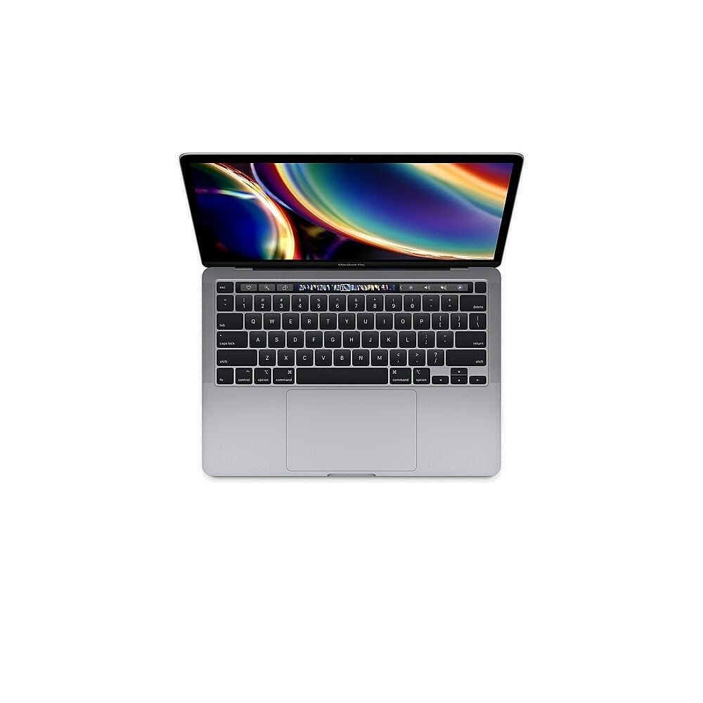 Image of Apple MacBook Pro with Touch Bar 13-inch Notebook, 2.0 GHz 10th Gen Intel Core i5, 512 GB SSD, 16 GB LPDDR4X, Space Grey