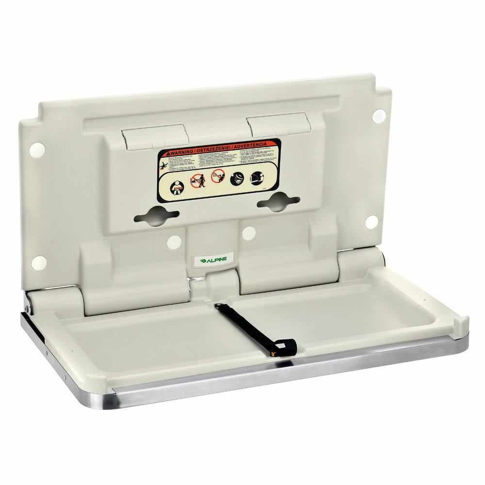 Image of Alpine Industries Wall Mounted Baby Changing Station - Stainless Steel (411-SSB)