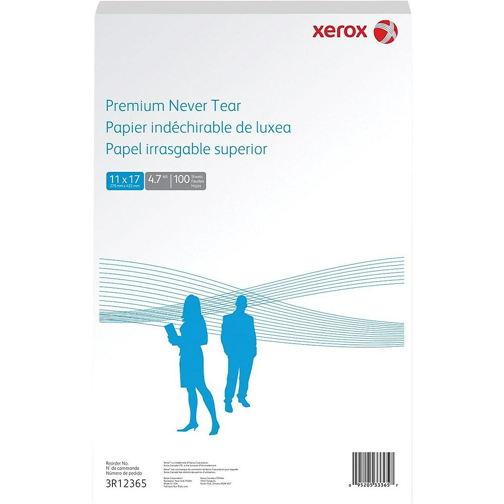 Xerox Revolution Nevertear Paper 5 Mil 11 X 17 White 100 Pack Staples Ca