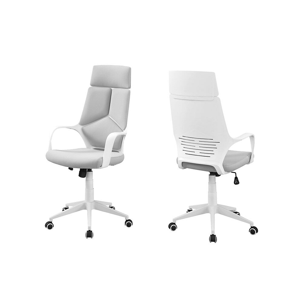 Monarch I 7270 High Back Executive Office Chair White And Grey Fabric Staples Ca