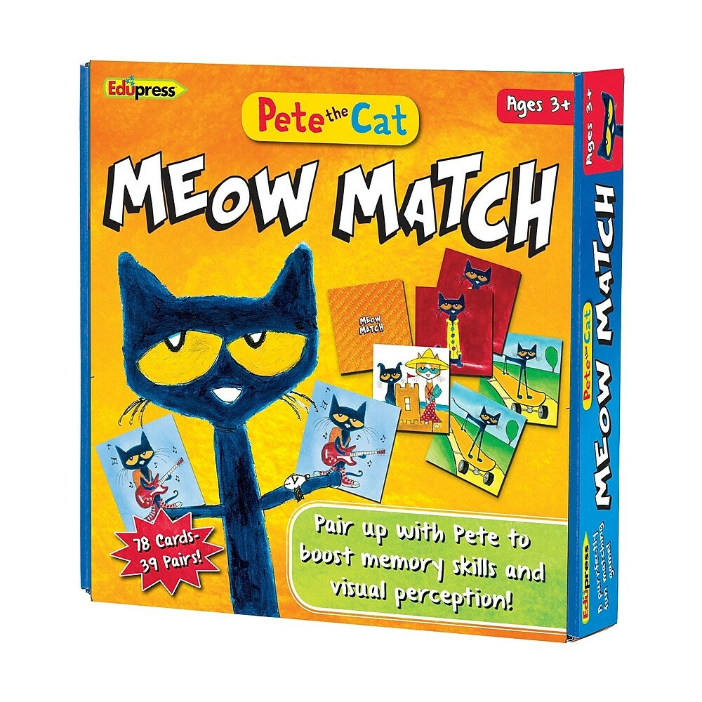 Image of Edupress Pete the Cat Meow Match Game, Multicolour, 158 Pack (EP-2075)