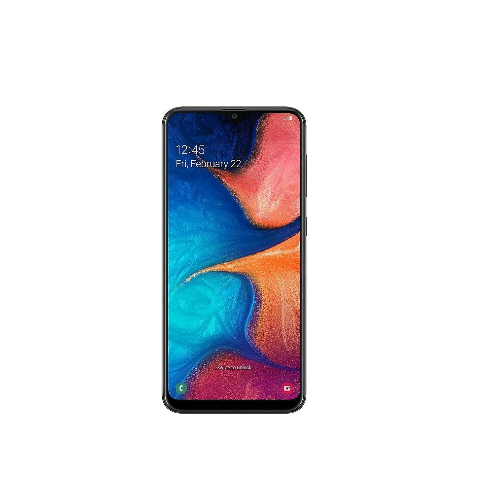 Image of Samsung Galaxy A20 6.4 Inch Unlocked Smart Phone, 32 GB (Android Pie), Black