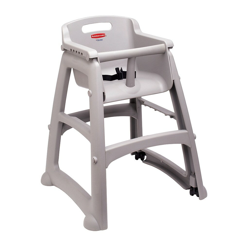 Image of Rubbermaid Sturdy Chair RU7806-PLA Microban Youth Seat High Chair without Wheels, Assembled