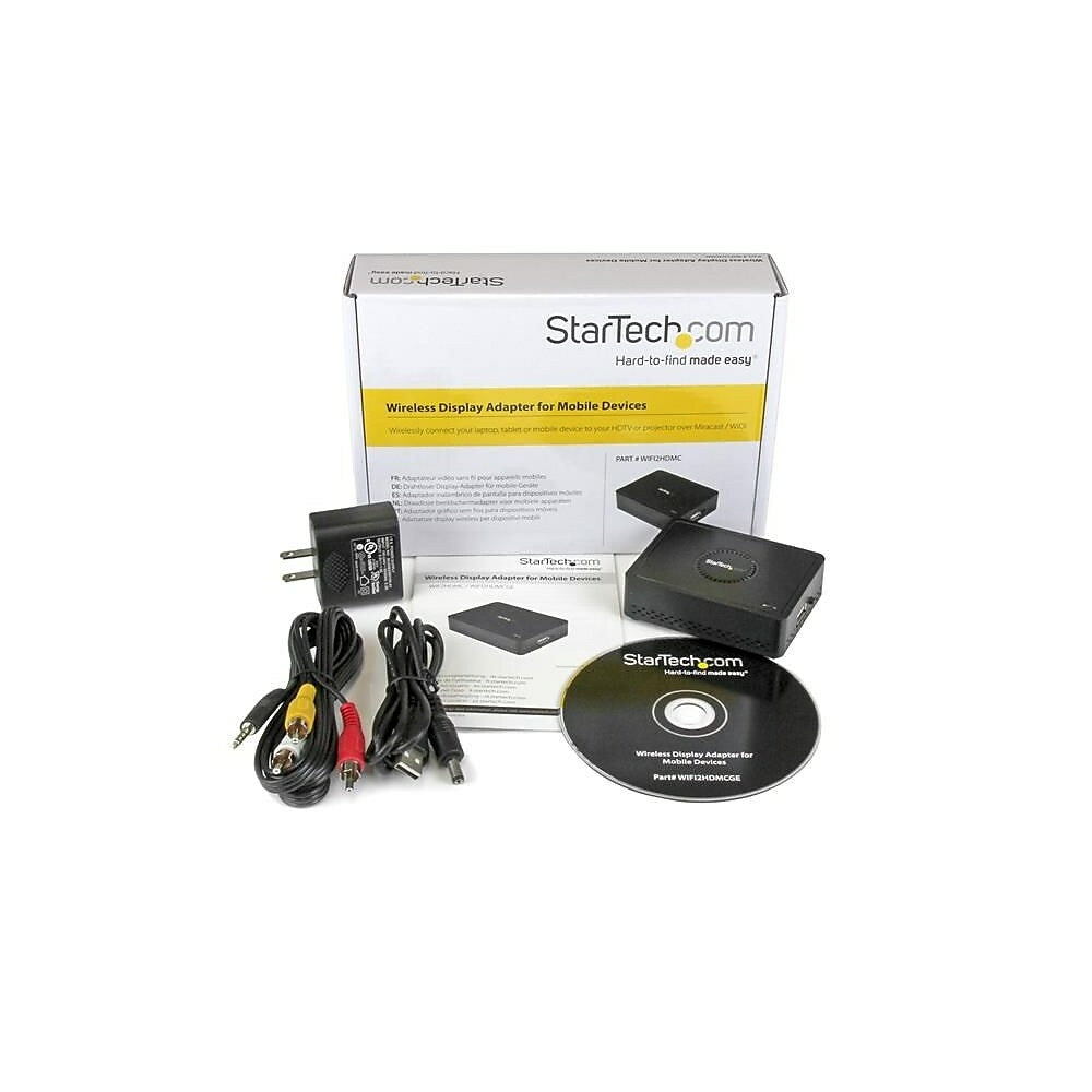 Image of StarTech Wireless Display Adapter with Miracast / WiDi for Mobile Devices, HDMI Wireless Receiver