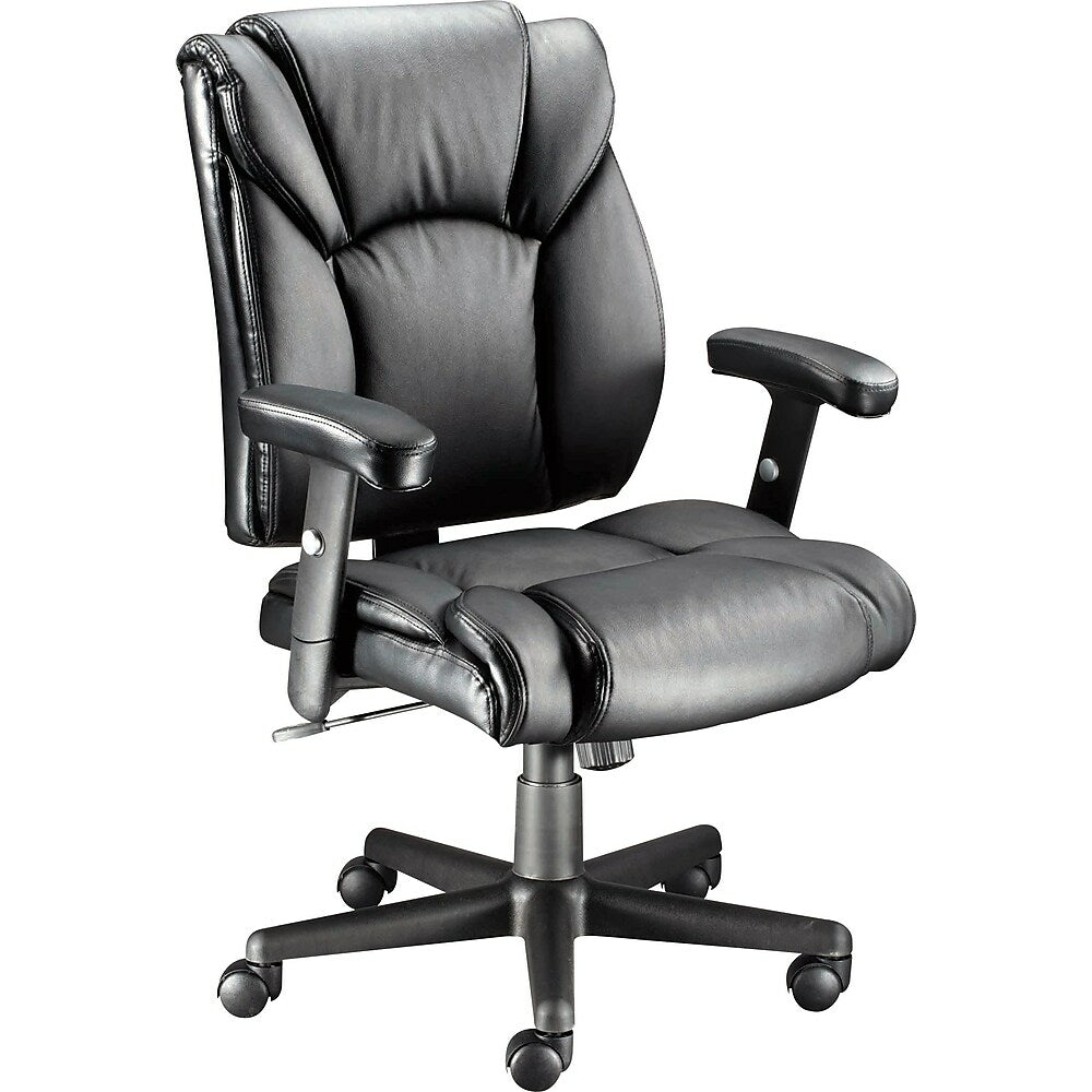 Staples Luxura Faux Leather Task Chair With Arms Black Staples Ca