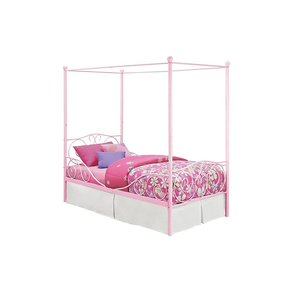 Image of DHP Canopy Metal Bed - Twin - Pink