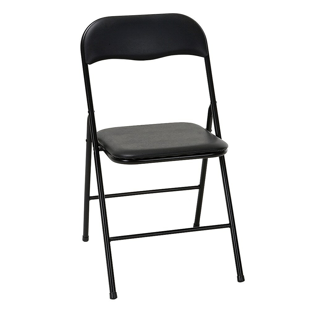 Padded Metal Folding Chair Black 88991 Staples Ca