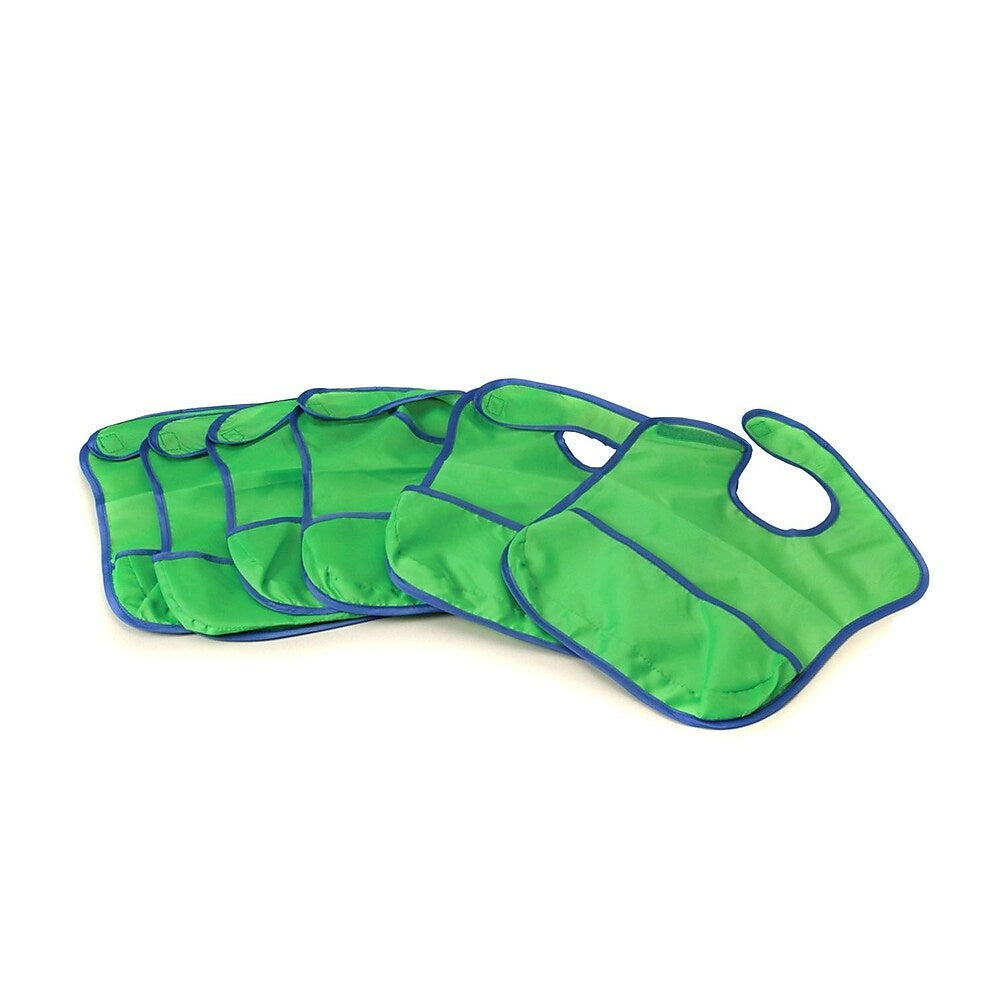 Image of Marvel Education Nylon Fabric Stain-Resistant Crumb Catcher Bibs, 6 Pack