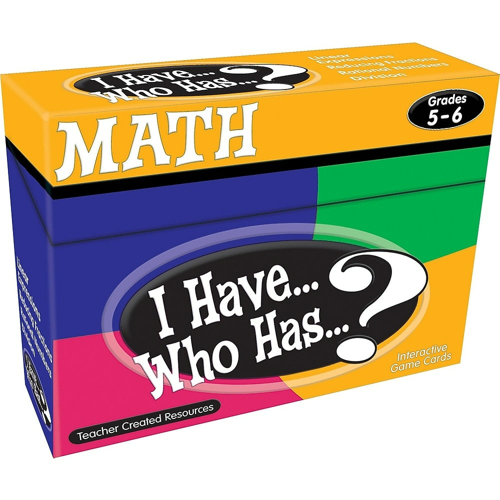 Image of Teacher Created Resources I Have, Who Has Math Game, Grade 5 - 6 (TCR7834)
