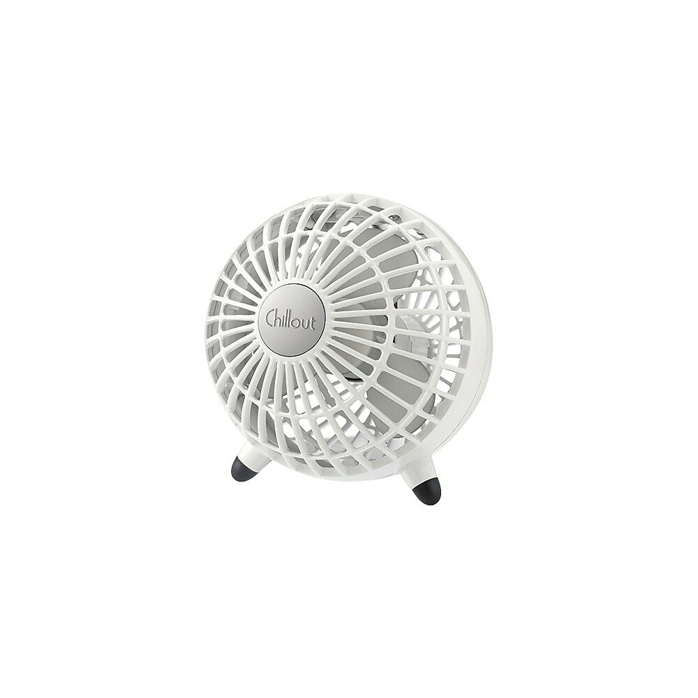 Chillout 6 Manual Control Usb Ac Adapter Desk Fan White Staples Ca