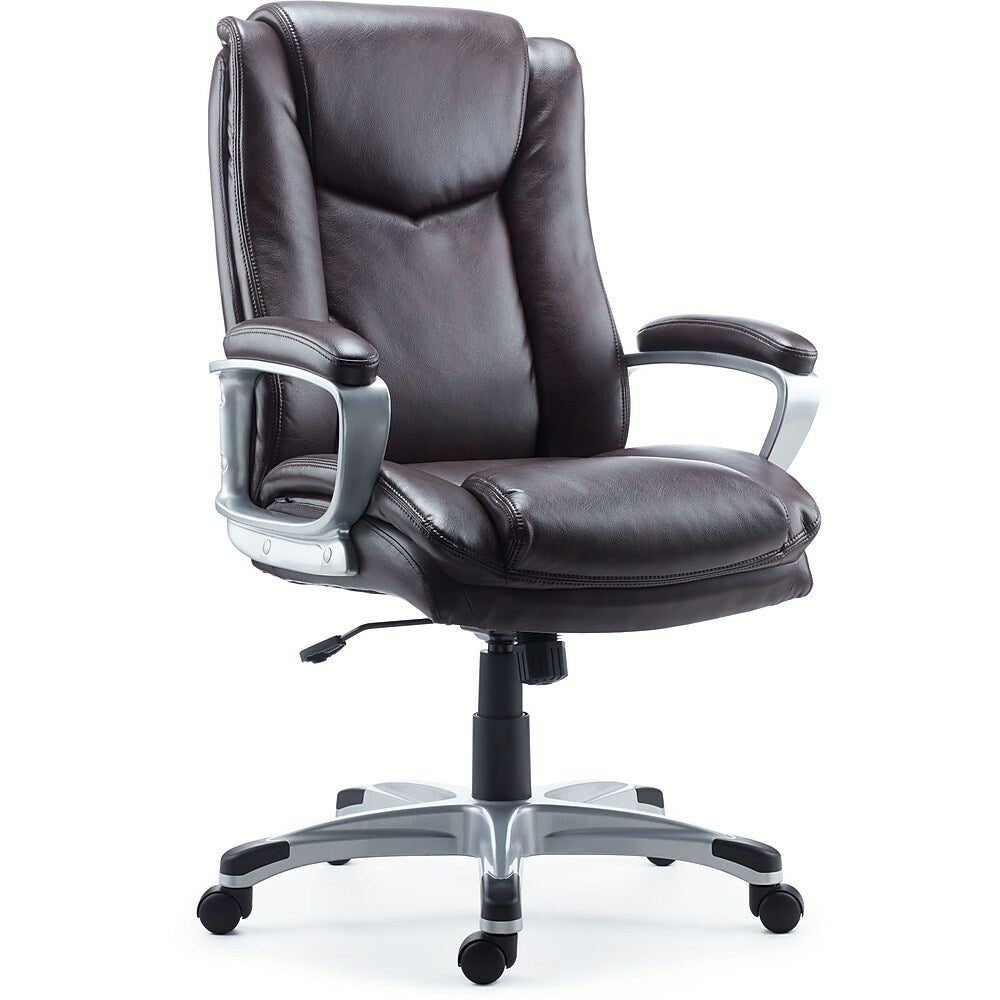 Staples Beckford Bonded Leather Managers Chair Brown Staples Ca