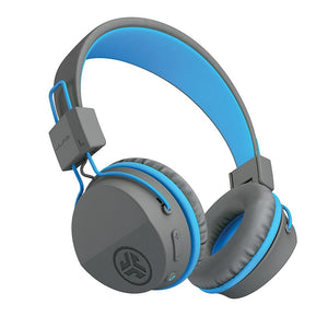 JLab Buddies Studio BT Wireless Kids Headphones, Grey/Blue