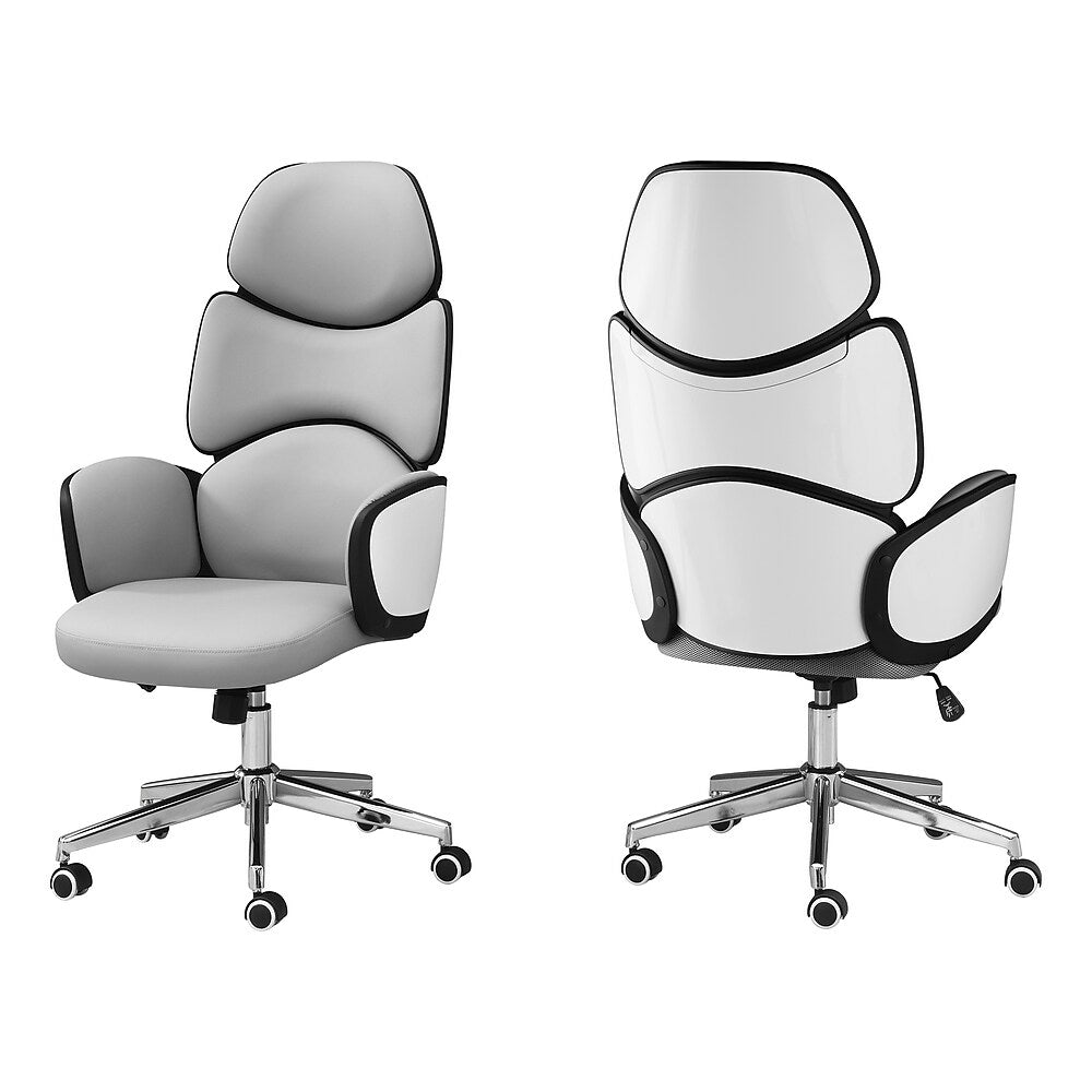 Monarch Specialties I 7322 Office Chair High Back Executive Grey Lea Staples Ca