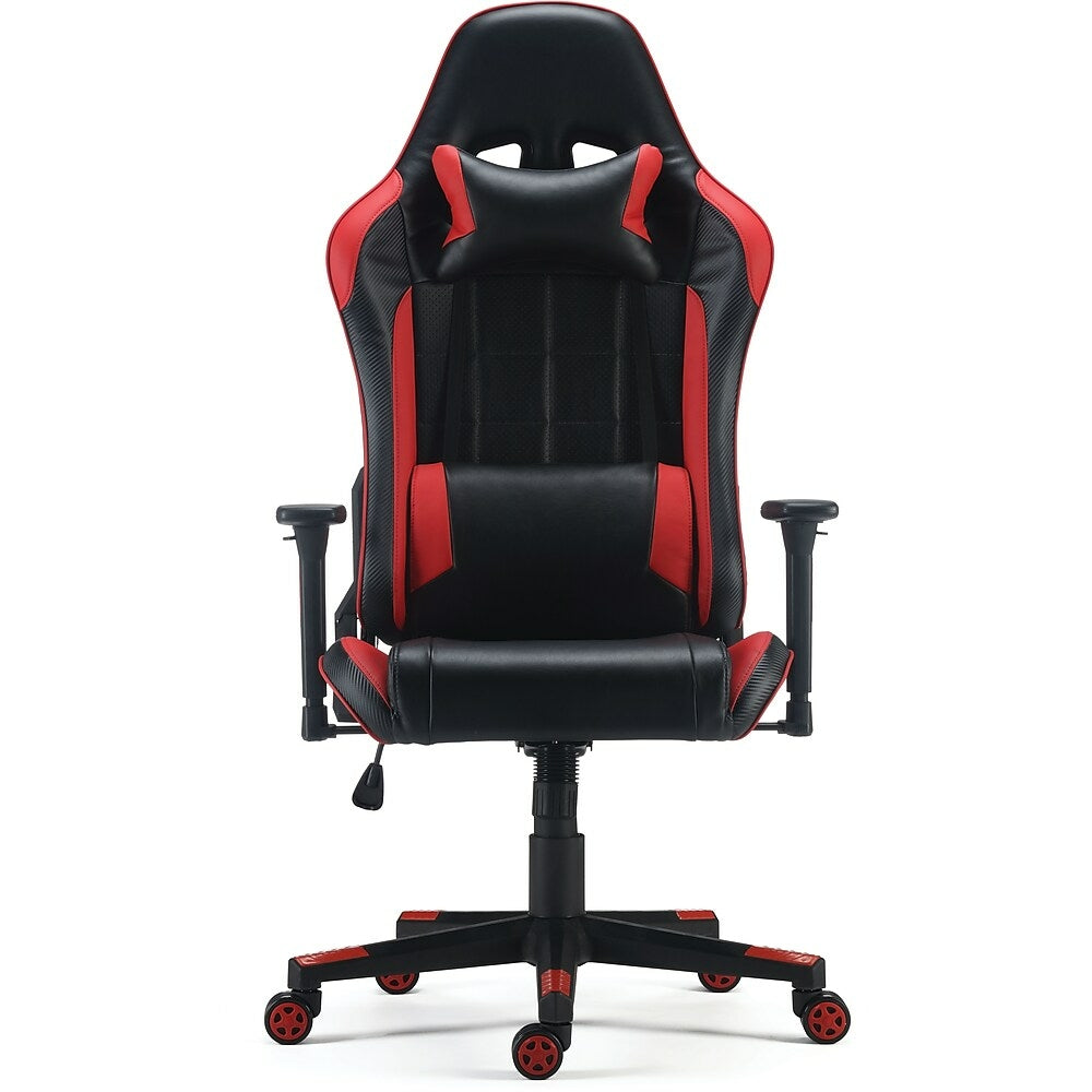Staples Enhanced Gaming Chair Red Staples Ca Plus, this adjustable chair's pneumatic height adjustment provides easy changes and each arm featuring a sleek, modern design, this staples hyken technical task chair makes a handsome. staples