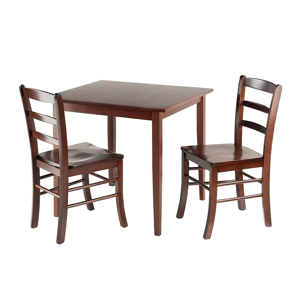 Winsome Groveland Square 3 Piece Dining Table Set Antique Walnut Staples Ca