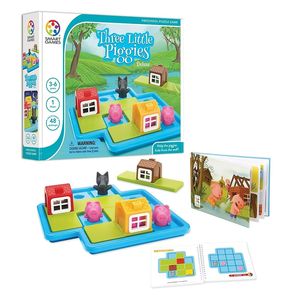 Image of Smart Toys and Games Three Little Piggies Deluxe, Big Puzzle Pieces (SG-023US)