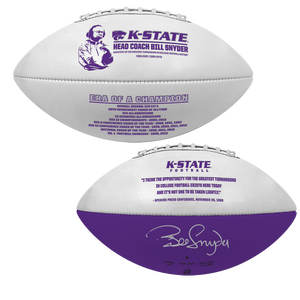 Bill Snyder, K-State Era of a Champion Autographed Football