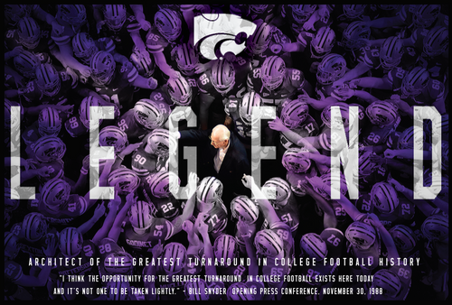 Autographed Bill Snyder 18