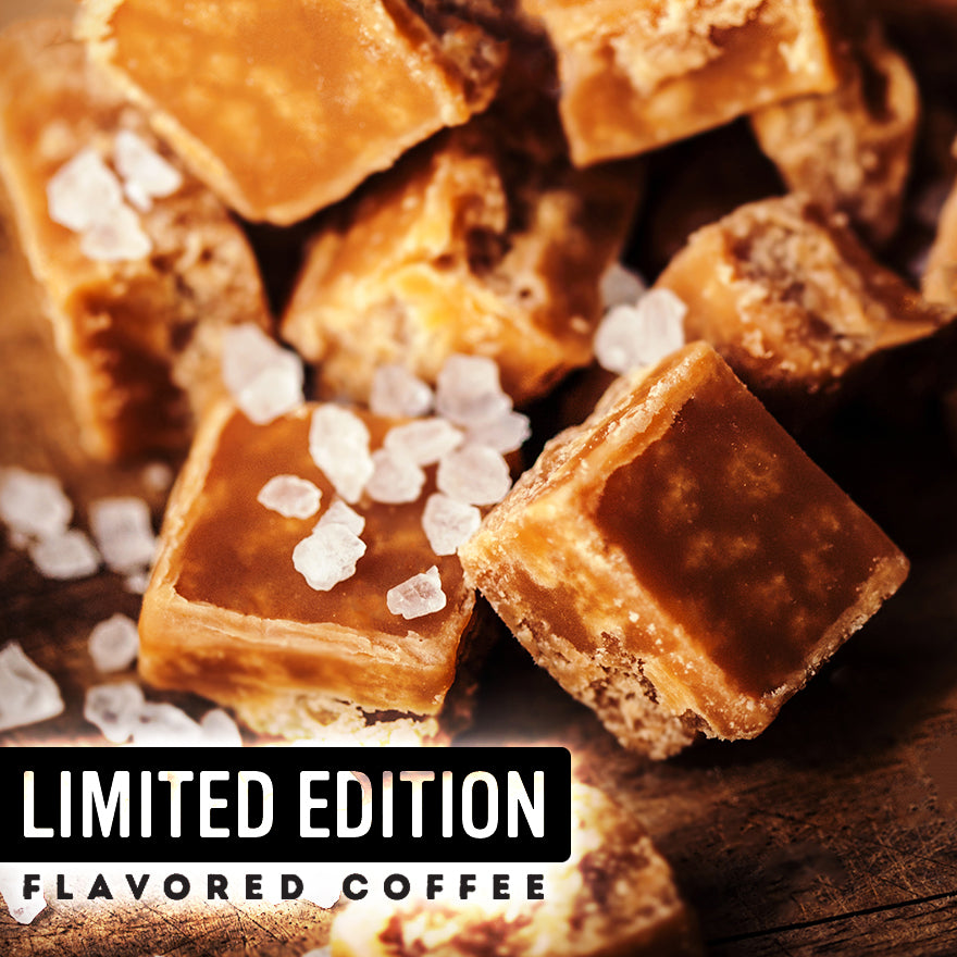 Sea Salt Toffee Crunch Flavored Coffee