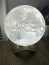 Personalized Photo Moon 3D Lamp
