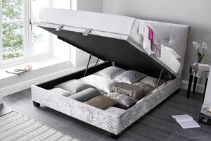 Double Ottoman Beds And A Headboard