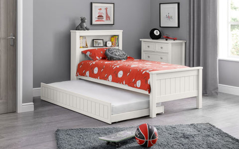 Julian Bowen Maine Bookcase Bed Surf White-Better Bed Company