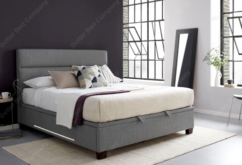 Grey Ottoman Bed-Better Bed Company