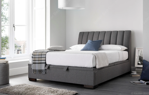 Kaydian Lanchester Artemis Elephant Grey Ottoman Bed Frame-Better Bed Company