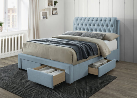 Artisan Bed Company Button Draw Fabric Bed-Better Bed Company