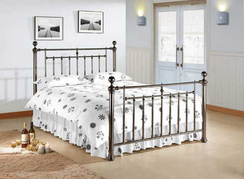 Double Metal Chrome Bed