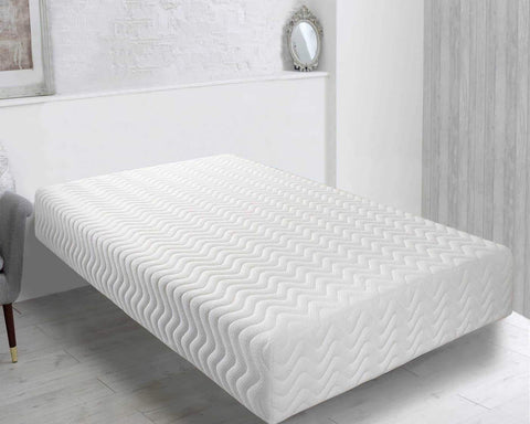 Double mattress with cool blue memory foam