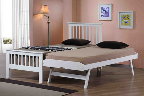 Flintshire Furniture Pentre Guest Bed In White-Better Bed Company
