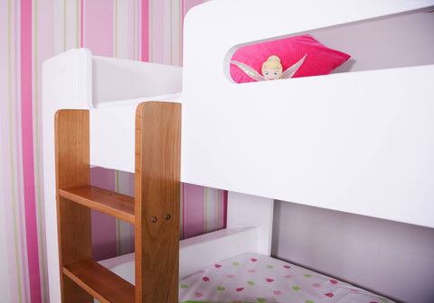 Jessy Bunk Bed Ladder Close View-Better Bed Company