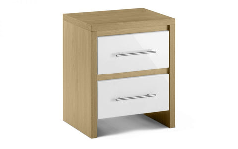 Julian Bowen Stockholm 2 Drawer Bedside-Better Bed Company