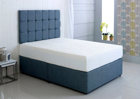 Double Bed With A Sprung Mattress
