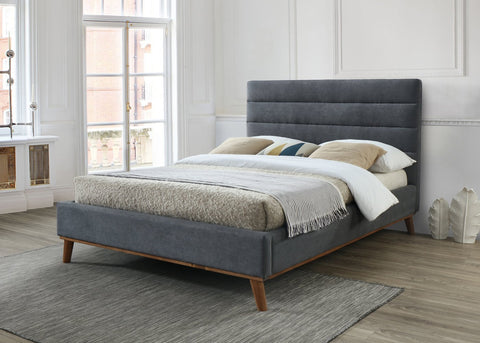 Double Dark Grey Bed Frame