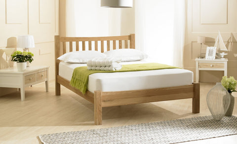 Double Oak Bed Frame