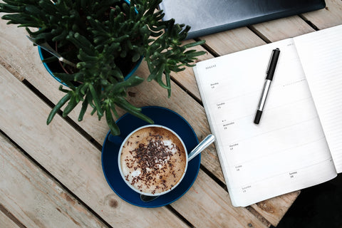 Diary And Coffee For Planning-Better Bed Company
