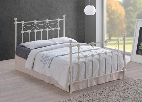 Single White Metal Bed Frame