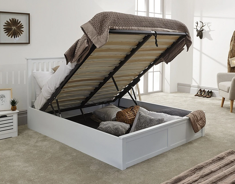 Small Single Memory Foam Mattress With A Wooden Bed